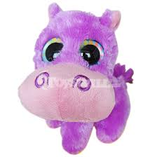 lovely hippo toy big eyes sale ty beanie boos purple hippo