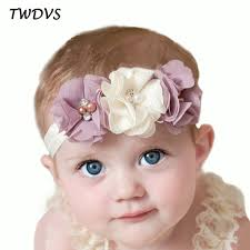 hair chiffon twdvs newborn flower elastic hair band kids headband chiffon 3