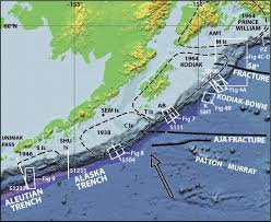 Kodiak Alaska Map by Subducting Plate Geology In Three Great Earthquake Ruptures Of The