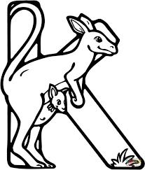 coloring pages animals letter k kangaroo coloring page kangaroo