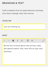 squarespace help creating a promotional pop up