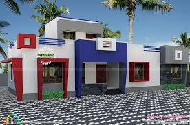 one floor flat roof home plan kerala home design and 2 floor flat