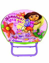 Dora Rocking Chair Amazon Com Nickelodeon Dora The Explorer Toddler Saucer Chair