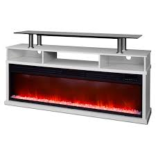 lifesmart 60 in media console fireplace with northern lights fx