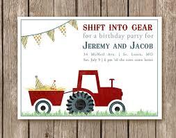tractor birthday invitations lilbibby com