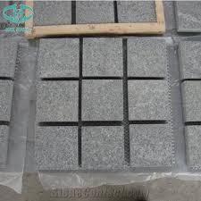 Granite Patio Stones Chinese G654 Light And Dark Grey Granite Cobble Stone Cube Stone