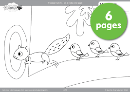 treetop family coloring pages u2013 episode 2 super simple