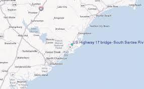 map us hwy us highway 17 bridge south santee river south carolina tide