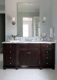 espresso vanity with marble countertop traditional bathroom