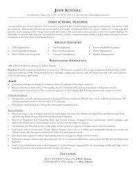 sample resume teachers sample resume of a teacher in high school free resume example sample resume biology teacher resume of workshop for