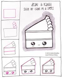 draw kawaii style cake in 6 steps kawaii and doodles drawings
