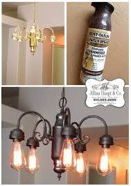 Chandelier Light Fixtures by Jillian U0027s Daydream Being Frugal Spray Paint Light Fixture