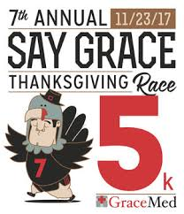 7th annual say grace thanksgiving race gracemed