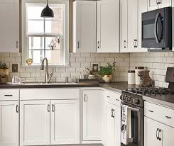 White Kitchen Cabinets Lowes Diamond Now At Lowe U0027s Arcadia Collection Streamlined Styling