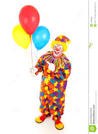 clown baloons cheerful clown and balloons stock image image 14858669