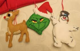 rudolph grinch and frosty felt ornaments occasions and holidays