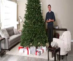 artificial tree pre lit lenox pine clear