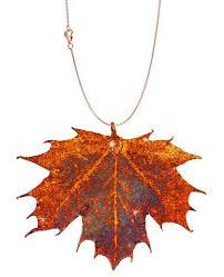 real leaf necklace images Zhannel real leaf pendant sugar maple in copper jpg