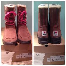 ugg s shoes 23 ugg boots holdauthentic ugg i lacy brown lace up