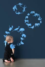 new wall graphics by on line community threadless alphabet zoo happy creatures