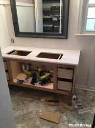 Granite Top Bathroom Vanity by Build A Diy Bathroom Vanity Part 6 Adding A Granite Vanity Top