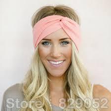hair headbands twist turban headband for women bows elastic sport hairbands