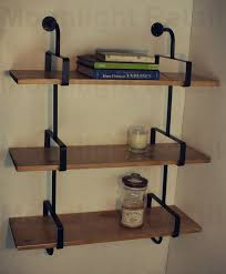 Steel Pipe Shelving by Industrial Urban Style Galvanised Steel Pipe Book Shelf Storage