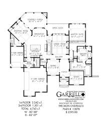 chateau floor plans the mon chateau ii house plan house plans by garrell associates