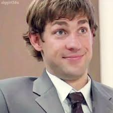 jim halpert hairstyle gif the office finale jim