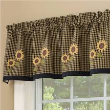 Country Lace Curtains Catalog Country Valance Curtains Sunflower Check Lined Valance 58