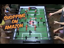 Amazon Foosball Table Shopping On Amazon Warrior Professional Foosball Table Youtube