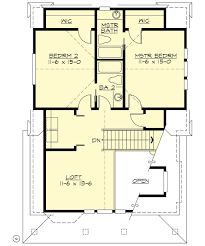 cottage style house plan 2 beds 2 00 baths 1295 sq ft plan 132 192