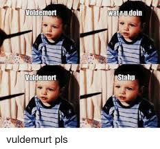 Memes Wat - voldemort voldemort wat ru doin stahp vuldemurt pls meme on me me
