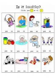 english worksheet personal hygiene my class pinterest