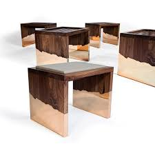 contemporary stool solid wood walnut dipped hudson furniture