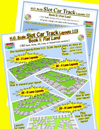 layout land h o scale slot car track layouts books
