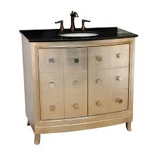 shop bellaterra home silver undermount single sink bathroom vanity