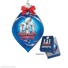 new patriots nfl bowl ornament collection