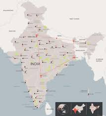 1Flavours of indian food and tea tour map