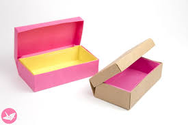 How To Make A Box With Paper - origami hinged box tutorial treasure chest box paper kawaii