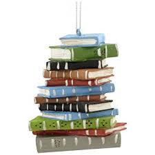 1 x school book stack ornament home kitchen