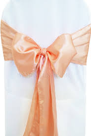 chair sashes wholesale apricot satin chair sashes bows ties wholesale