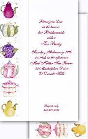 Tea Party Invitation Card 43 Best Tea Party Invitations Images On Pinterest Tea Party
