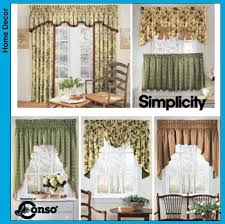 Kitchen Curtain Patterns Free Printable Valance Sewing Patterns Simplicity Window