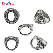 rings setting images Beadsnice thailand silver rings setting with oval cabochon base jpg