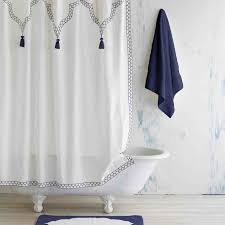 Moroccan Inspired Curtains Indigo Iswar Shower Curtain