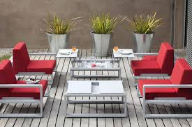 Inexpensive Patio Tables Outdoor Garden 6 Pc Modern White Patio Furniture With