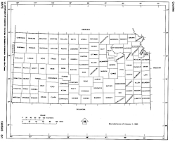 County Map Of Missouri Kansas State Map With Counties Outline And Location Of Each County