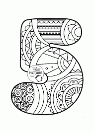 pattern number 5 coloring pages for kids counting numbers