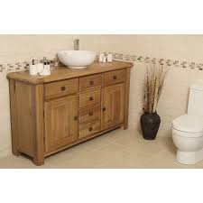 Oak Bathroom Vanity Units Ohio Large Rustic Oak Bathroom Vanity Unit Best Price Guarantee